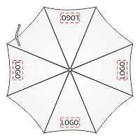 4 логотипа на зонт