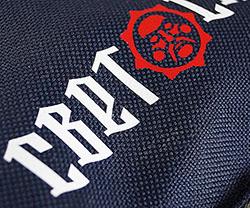 флекс печать на рюкзаке, аппликация логотипа на рюкзак